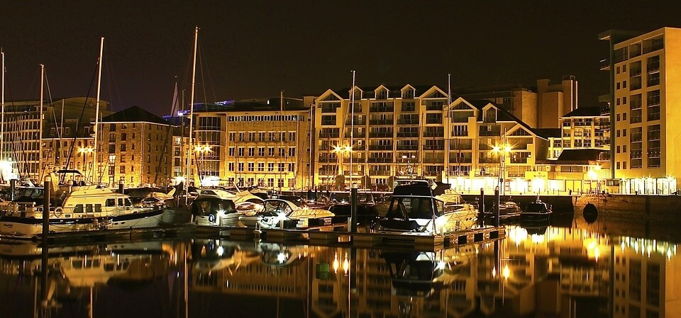 Harbour in Plymouth, UK